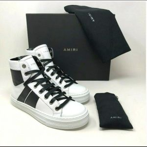 AMIRI Womens Leather Sneaker High Tops Shoes NEW
